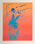 Fine Art - Work on Paper:Print, Peter Max (American, b. 1937). Blue Vase, 1981. Lithographin colors. 25 x 19 inches (63.5 x 48.3 cm) (image). 29 x 22-1...
