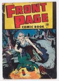 Golden Age (1938-1955):Horror, Front Page Comic Book #1 (Harvey, 1945) Condition: FR/GD....