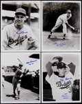 Autographs:Photos, Brooklyn Dodgers Greats Signed Photograph Lot of 8....