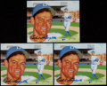 Autographs:Photos, Baseball Greats Signed Photograph Collection (6)....