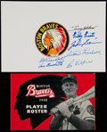 Autographs:Baseballs, 1948 Boston Braves Player Roster and 1950's Multi-Signed TeamSheet....