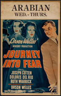 "Journey into Fear (RKO, 1942). Window Card (14"" X 22""). Film Noir"