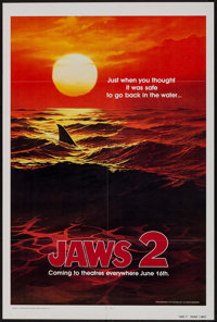 "Jaws 2 (Universal, 1978). One Sheet (27"" X 41"") Teaser. Horror"