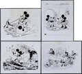 "Movie Posters:Animation, Mickey Mouse Photo Lot (United Artists, 1930s). Photos (4) (8"" X 10""). Animation.. ... (Total: 4 Items)"