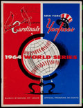 Autographs:Others, 1964 World Series Multi-Signed Program....