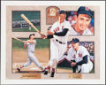 Autographs:Photos, Ted Williams Signed Lithograph....