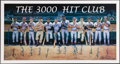 Autographs:Photos, 1995 3,000 Hit Club Signed Poster....