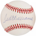 Autographs:Baseballs, Ted Williams Single Signed Baseball.  Offered here...