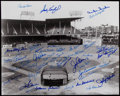 Autographs:Photos, New York Baseball Greats Multi-Signed Oversized Photograph -Includes Koufax, Snider, and Reese. ...