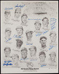 Autographs:Photos, 1957 Brooklyn Dodgers Reunion Signed Lithograph....