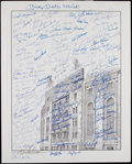 Autographs:Photos, Circa 2000 New York Yankees Greats Multi-Signed Oversized Print....