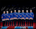 Hockey Collectibles:Others, New York Rangers Greats Multi Signed Oversized Photograph....