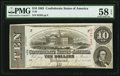 Confederate Notes:1863 Issues, Double Issue Date Error T59 $10 1863.. ...