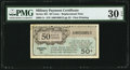 Military Payment Certificates:Series 461, Series 461 50¢ Replacement PMG Very Fine 30 EPQ.. ...