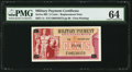 Military Payment Certificates:Series 692, Series 692 5¢ Replacement PMG Choice Uncirculated 64.. ...