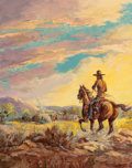 Fine Art - Painting, American:Modern  (1900 1949)  , Fred Harman (American, 1902-1982). Our Hogan, 1940. Oil oncanvas. 20 x 16 inches (50.8 x 40.6 cm). Signed and dated low...