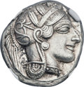 Ancients:Greek, Ancients: ATTICA. Athens. Ca. 454-404 BC. AR tetradrachm (25mm,17.23 gm, 1h). NGC Choice AU 5/5 - 5/5....