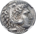 Ancients:Greek, Ancients: MACEDONIAN KINGDOM. Alexander III the Great (336-323 BC).AR tetradrachm (26mm, 17.06 gm, 7h). NGC Choice AU 5/5 - 4/5, FineS...