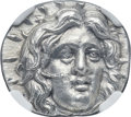Ancients:Greek, Ancients: CARIAN ISLANDS. Rhodes. Ca. 250-200 BC. AR didrachm(21mm, 6.83 gm, 11h). NGC MS 5/5 - 4/5....