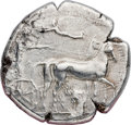 Ancients:Greek, Ancients: SICILY. Syracuse. Ca. 420-415 BC. AR tetradrachm (25mm,17.19 gm, 8h). NGC XF 3/5 - 2/5, brushed....