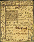 Colonial Notes:Delaware, Delaware January 1, 1776 20s Choice About New.. ...