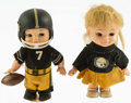 """Football Collectibles:Others, 1960""""s Pittsburgh Steelers Horsemen Wind Up Dolls (2). ..."""