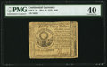 Colonial Notes:Continental Congress Issues, Continental Currency May 10, 1775 $30 PMG Extremely Fine 40.. ...