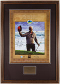 Autographs:Photos, J.B. Holmes Signed Poster Display....
