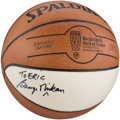 """Basketball Collectibles:Balls, George Mikan Single Signed Basketball - """"To Eric"""" Personalization...."""