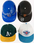 Autographs:Others, Baseball Greats Collection of Signed Helmets and Hats (4). ...