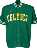 Basketball Collectibles:Uniforms, 1986-87 Larry Bird Game Worn Boston Celtics Shooting Shirt....