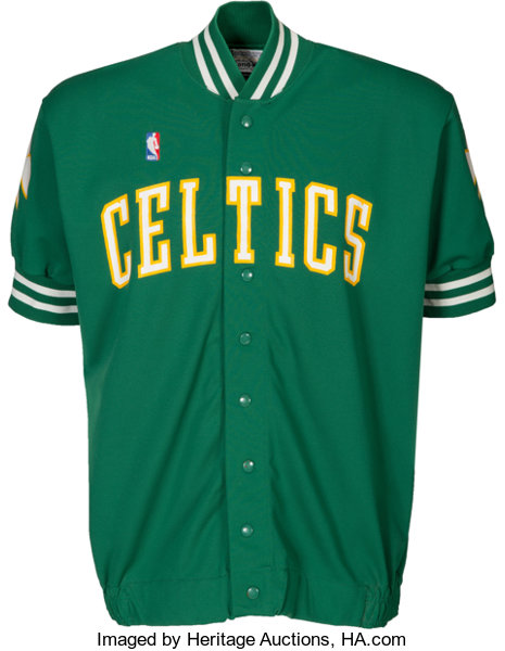 ce8f4a6417b 1986-87 Larry Bird Game Worn Boston Celtics Shooting Shirt....