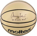 """Basketball Collectibles:Balls, Jerry West Single Signed Basketball With """"69 Finals MVP""""Inscription...."""
