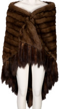 Music Memorabilia:Costumes, A Connie Francis Brown Sable Fur Stole, 1970s....