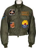 Music Memorabilia:Costumes, A Connie Francis Bomber Jacket Worn While Entertaining the Troops in Vietnam, 1967....