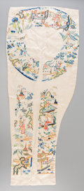 Asian:Chinese, A Chinese Embroidered Silk Sleeve Panel, Qing Dynasty, late 19thcentury. 24 inches high x 10 inches wide (61.0 x 25.4 cm). ...