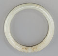 Asian:Chinese, A Chinese Carved Jade Bangle. 2-7/8 inches diameter (7.3 cm). ...