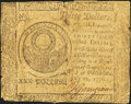 Colonial Notes:Continental Congress Issues, Continental Currency July 22, 1776 $30 Very Good.. ...