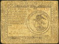 Colonial Notes:Continental Congress Issues, Continental Currency November 2, 1776 $3 Fine.. ...