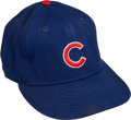 Baseball Collectibles:Hats, 1980's Ryne Sandberg Signed Game Worn Chicago Cubs Cap....