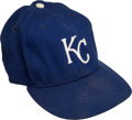 Baseball Collectibles:Hats, 1980's Frank White Signed Game Worn Kansas City Royals Cap....