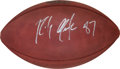 Football Collectibles:Balls, 2015 Super Bowl XLIX New England Patriots Game Football Signed by Rob Gronkowski....