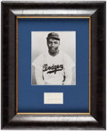 Autographs:Index Cards, Jackie Robinson Signed Cut Signature Display....