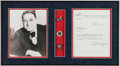 Autographs:Letters, 1947 Branch Rickey Signed Letter Display....
