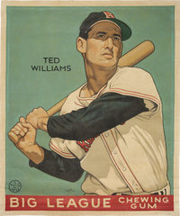 """2017 Ted Williams 1933 Goudey """"Card That Never Was"""" Original Artwork by Arthur Miller"""