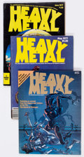 Magazines:Science-Fiction, Heavy Metal Box Lot (HM Communications, 1977-81) Condition: AverageFN....