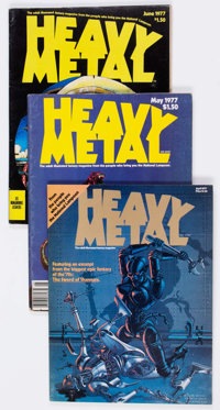 Heavy Metal Box Lot (HM Communications, 1977-81) Condition: Average FN