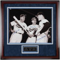 Baseball Collectibles:Photos, Duke Snider, Pee Wee Reese & Mickey Mantle Signed OversizedPhotograph. ...