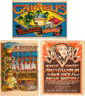 Music Memorabilia:Memorabilia, Marijuana - Group of Three Psychedelic Posters (Late 1960s - Early 1970s)...