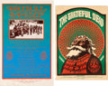 Music Memorabilia:Posters, Grateful Dead / Big Brother & the Holding Company - Two FamilyDog Concert Posters (Family Dog, 1966/78).... (Total: 2 Items)